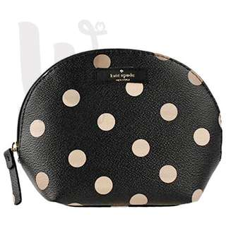 [Double W] kate spade 粉波點黑色化妝袋 (WLRU2545-286) makeup bag