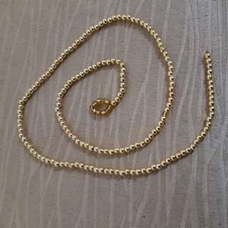 Mini golden beads string