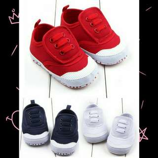 SGD 7.80 Baby Boy Girl First Walker Canvas Shoes