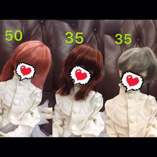 Bjd 4分3分 假髮
