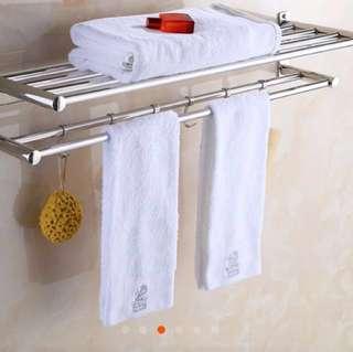 浴室毛巾架不用打孔