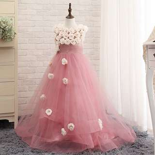 Korea style fashion baby girl dinner dress