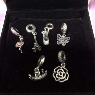 Pandora Charms - Heart / Tower / Ballet Shoes / Butterfly / Rose