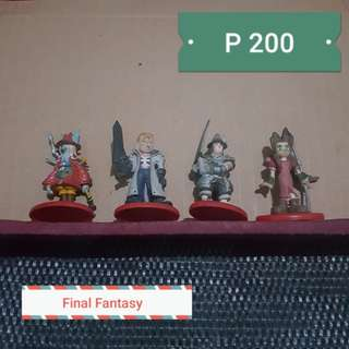 Final Fantasy Coca Cola Figures