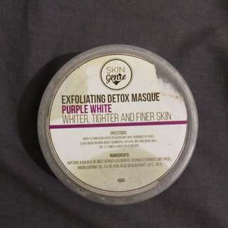 Exfloating detox masque purple white (whiter,tighter and finer skin)