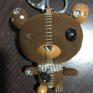 Swarovski 小熊 鎖匙扣 水晶 吊飾 手袋墜飾 Arnold brown