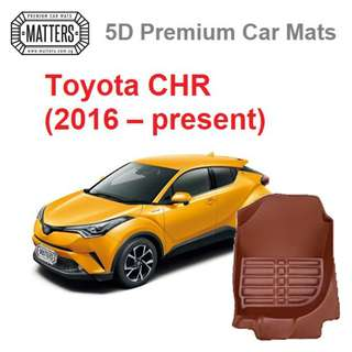 MATTERS 5D Premium PU Leather Car Mats For Toyota C-HR (2016 – Present) Qoo10 Offical Store #CHR