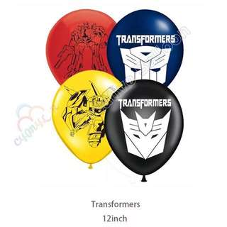 💥 Transformers party supplies - transformers latex balloons / party deco / birthday deco