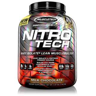 MUSCLETECH NITRO-TECH RIPPED WITH FAT BURNER 4 LBS - COD FREE SHIPPING