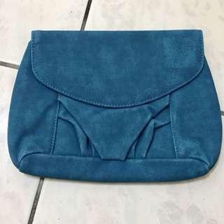 晚宴小包/化妝包-藍綠色