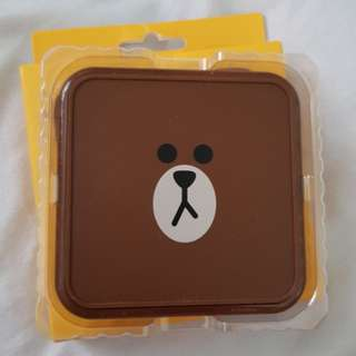 Official LINE Friends Brown Qi Wireless Charger