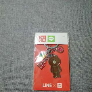 Collectible Brown Keychain from Uniqlo