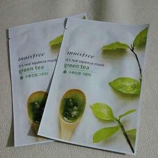 Innisfree 綠茶面膜