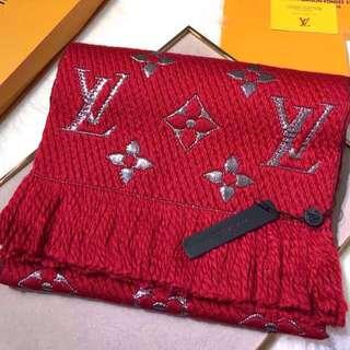 Authenthic LV Logo Mania shine scarf