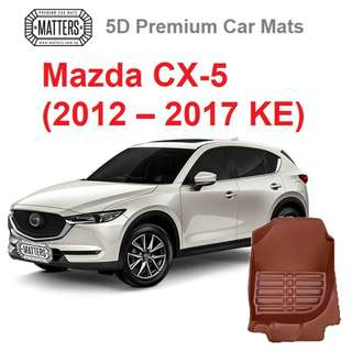 MATTERS 5D Premium PU Leather Car Mats For Mazda CX-5 (2012 – 2017 KE) Qoo10 Official Store