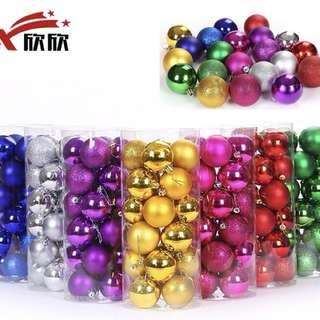 櫥窗裝飾、新年裝飾-裝飾彩球8cm/6cm