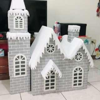 耶誕裝飾-耶誕雪屋120cm