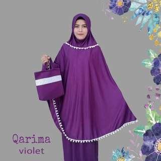 Mukena Violet kaos premium