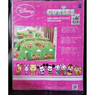 Disney Squirrel - Super Single Fitted Sheet Set