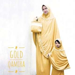 Mukena couple Gold kaos premium