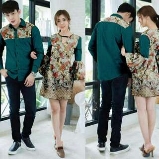 cp prada dress  bahan batik prada combi strech fit to L
