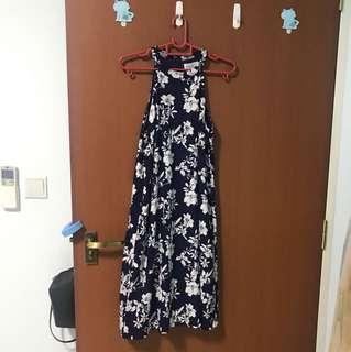 Navy Halter Dress