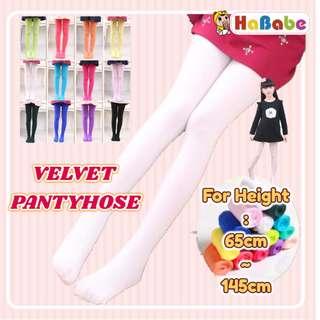 【VELVET PANTYHOSE】For Height 65cm~145cm✿BALLET WEAR TIGHT STOCKING LEGGING✿BALLET LONG SOCK FOR GIRLS✿SOFT✿High elasticity