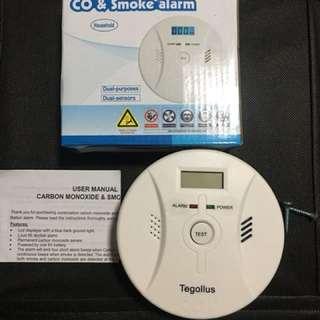 Combination co and smoke alarm
