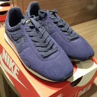 日本限定松本惠奈着用深藍特殊雕紋羈皮阿甘鞋 全新 專櫃正品 US7 24 女生