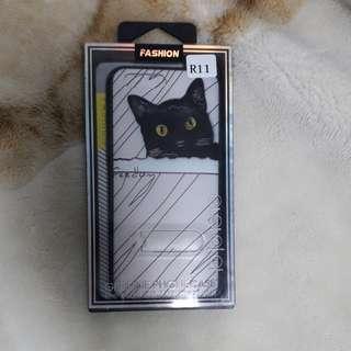 🚚 全新OPPO R11可站立貓咪輕薄保護殼