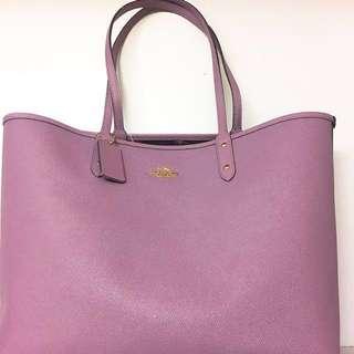 Coach新款🌺雙面小碎花💜淨色 handbag 手袋