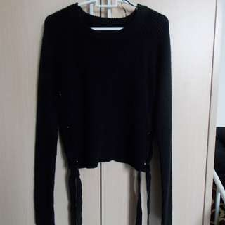 Colorbox Side Lace Up Sweater