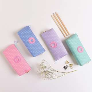 Sweet Donut Canvas Pencil Case
