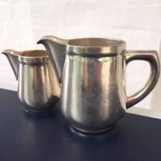 silver plate milk & cream jugs