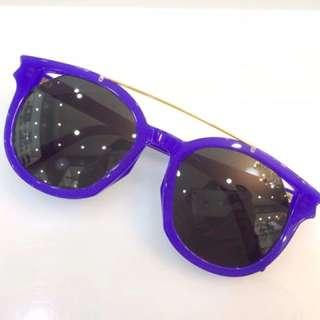 正品圣罗兰 紫的手造太阳镜,哪位女神谁来收了它,限量版哦