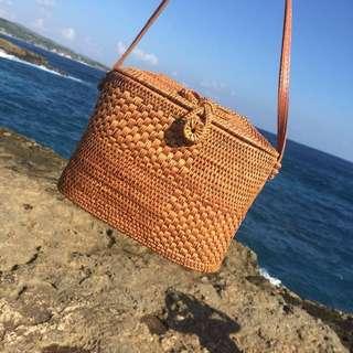Bali Straw Rattan Wicker Handbag