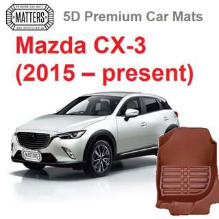 MATTERS 5D Premium PU Leather Car Mats For Mazda CX-3 (2015 – Present) Qoo10 Official Store