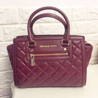 Michael Kors Quilting Burgundy Red Bag 紅色菱格車線皮袋