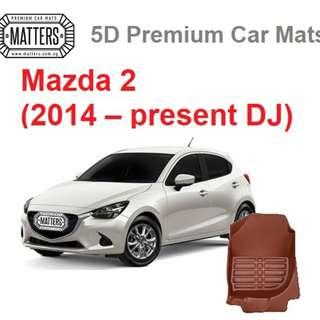 MATTERS 5D Premium PU Leather Car Mats For Mazda 2 (2014 – Present DJ) Qoo10 Official Store