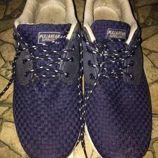 Sneakers pull & bear blue navi size 44
