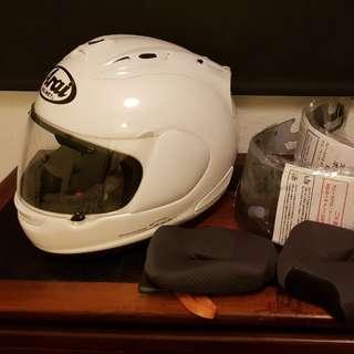 New Arai RX7 GP race helmet with spares