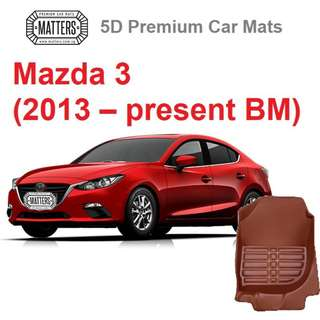 MATTERS 5D Premium PU Leather Car Mats For Mazda 3 (2013 – Present BM) Qoo10 Official STore