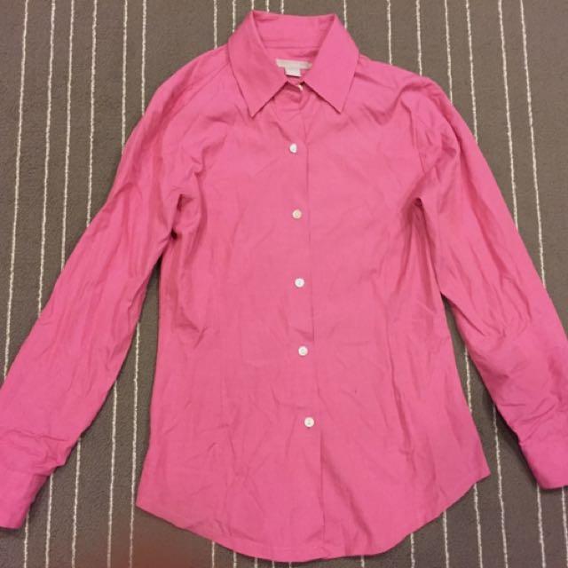 粉色質感襯衫