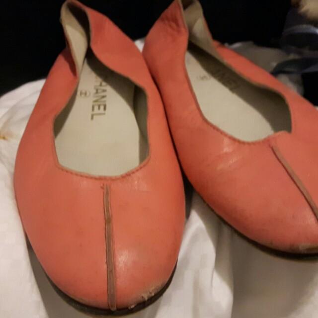 香奈兒真品小羊皮娃娃鞋