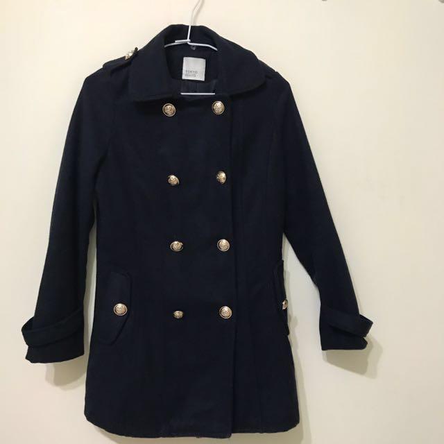 毛呢外套(深藍色)