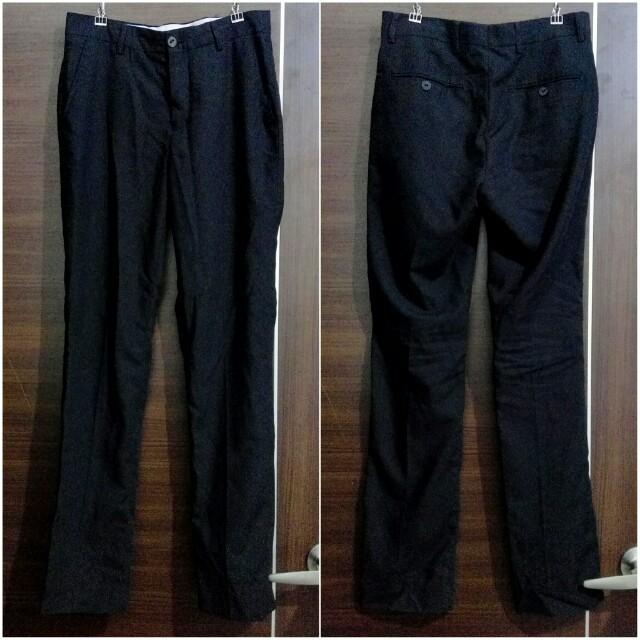 男生 正裝黑色西裝褲長褲 28腰 正裝商務 修身西裝褲 職業裝 韓版西裝褲