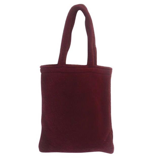 全新 👜 酒紅色 羊羔毛 毛毛肩背包 提袋