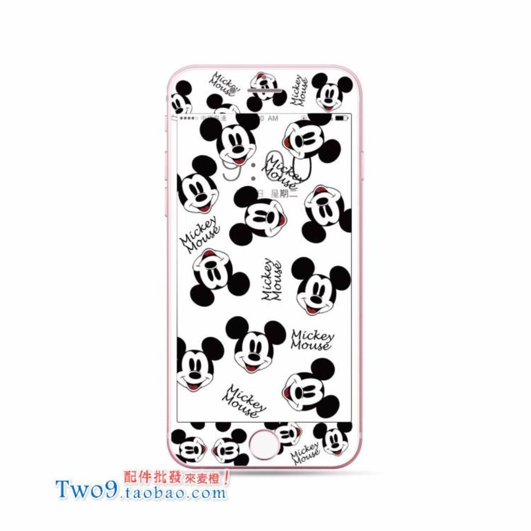 現貨+預購🏩可愛米奇 米妮 唐老鴨 黛西 iPhone 鋼化玻璃膜 螢幕保護貼