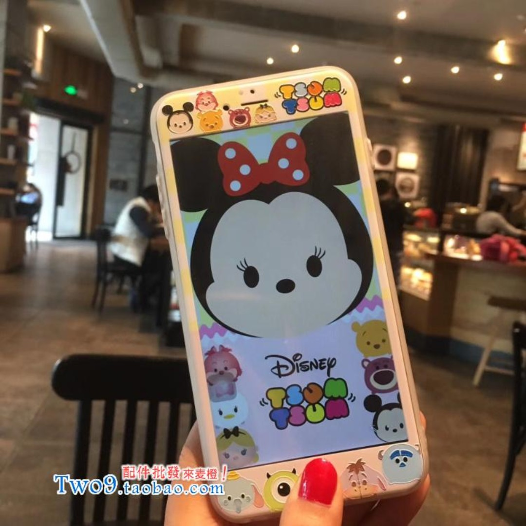 現貨+預購🏩可愛情侶米奇米妮 iPhone 鋼化玻璃膜 螢幕保護貼