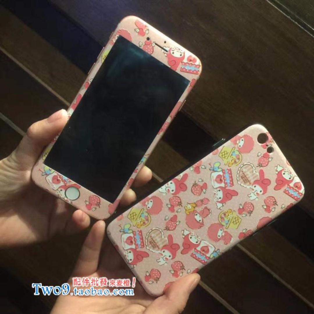 現貨+預購🏩可愛美樂蒂 iPhone 鋼化玻璃膜 螢幕保護貼+保護套